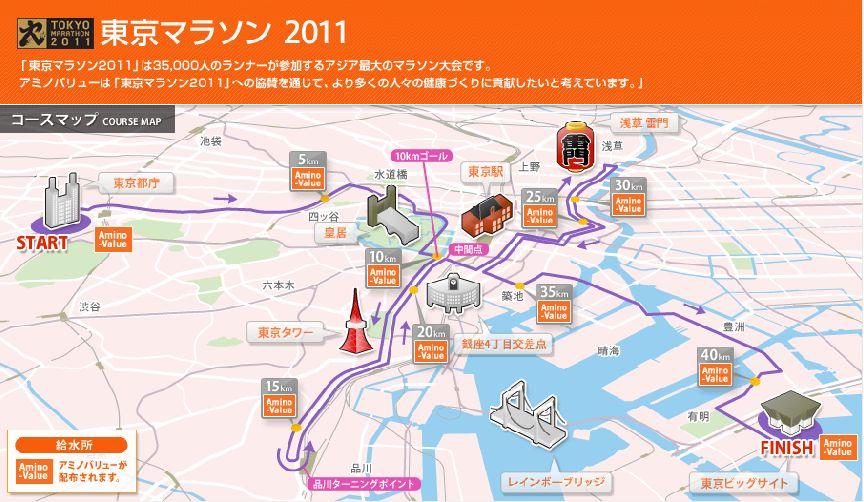 東京マラソン 2011のコースを紹...